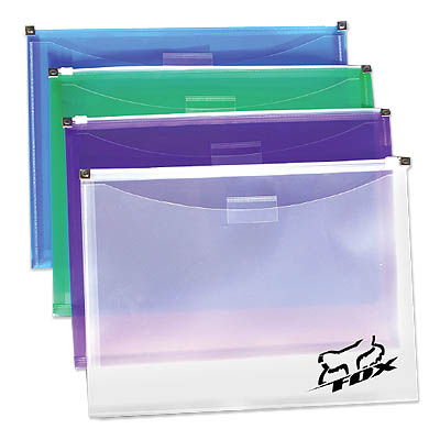Plastic Envelopes w/ Gusset, Front Pocket & Zip Closure, 12.88 x 9.75