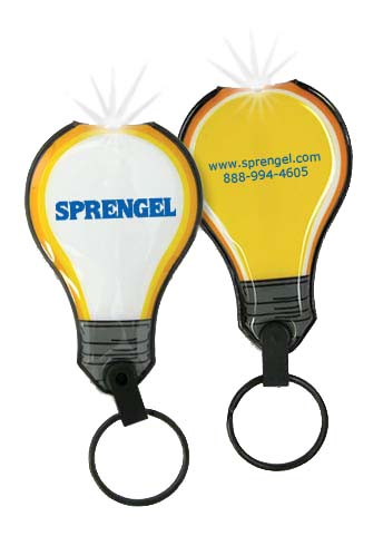 Lighted Key Chains, Lightbulb Flexi-Soft Key  Light