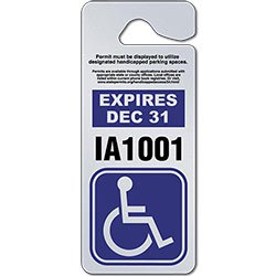 Giant Parking Permit Hang Tags - 3.375 x 9