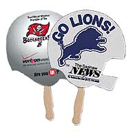 Sandwiched Helmet Hand Fans