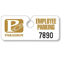 Hidden Parking Permit Hang Tags - 4.75 x 2