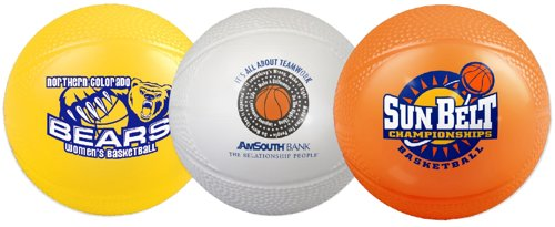 Mini Vinyl Basketballs - 4.25""