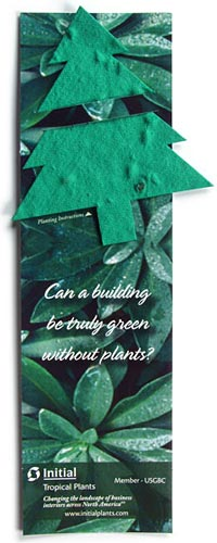Plantable Bookmarks - Christmas Tree