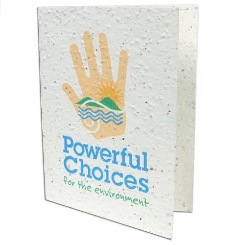 4 x 5.25 Folded Plantable Greeting Cards with Envelopes