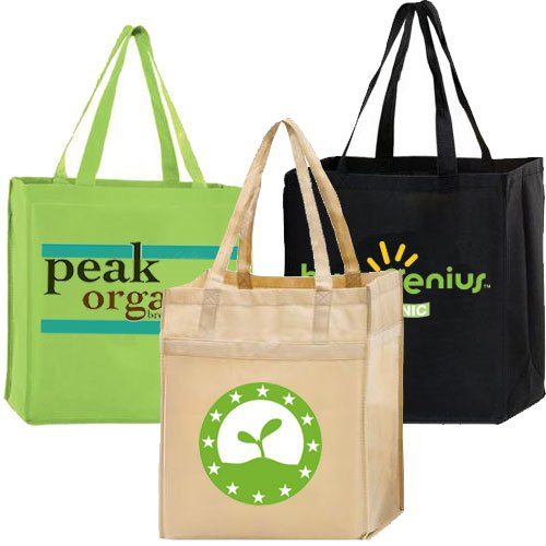 13 x 13 Non-Woven Reusable Shopping Bags