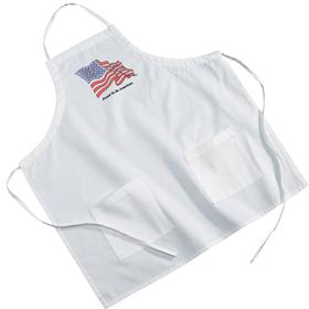 Poly-Cotton Twill White BBQ Aprons