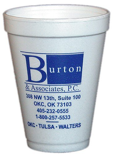 10000 Custom 12 oz. Styrofoam Cups, High Quantity  HL90ST