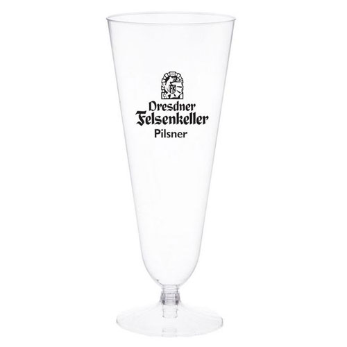 12 oz. Clear Plastic Pilsner Glass