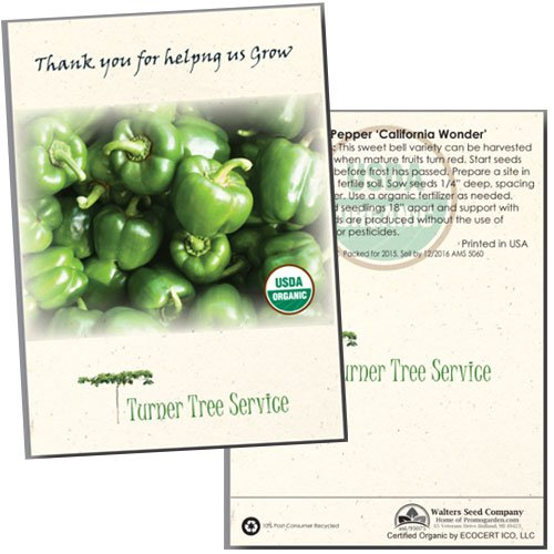 Organic Pepper Seed Packets