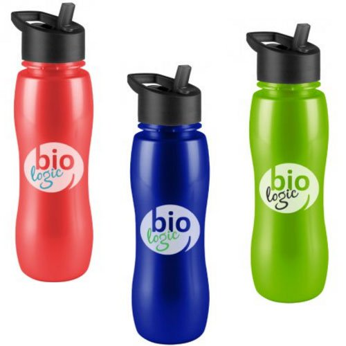 25 oz. BPA Free Metalike Sports Bottles with Flip Straw Lid