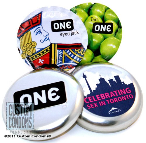 Condom One Tin - Custom Condoms Brand
