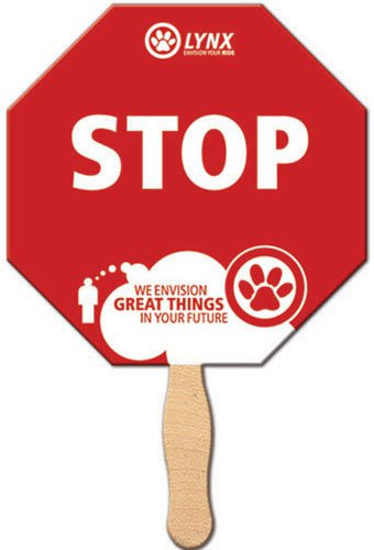 Stop Sign Hand Fans