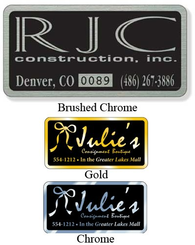 "4"" x 2"" Identification Decals"