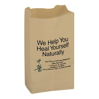 6 x 11 Natural Kraft Paper Grocery Bags