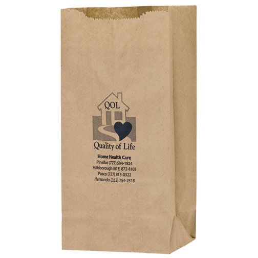 6 x 12.5 Natural Kraft Paper Grocery Bags