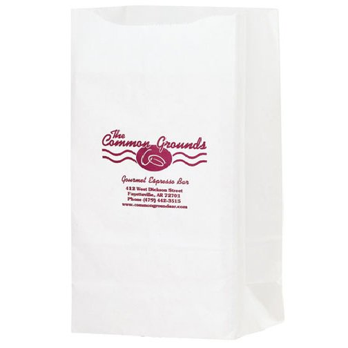 7 x 13 White Kraft Paper Grocery Bags