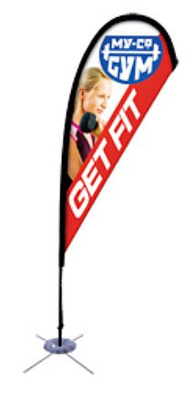8' Tear Drop Sail Sign Banners, Complete Kit