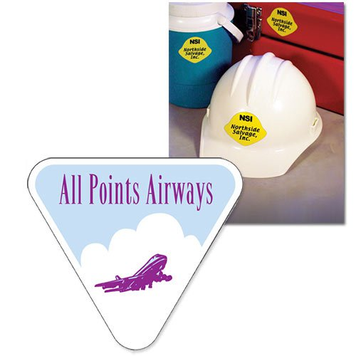"2.75"" x 2.5"" Triangle Shaped Hard Hat Decals"