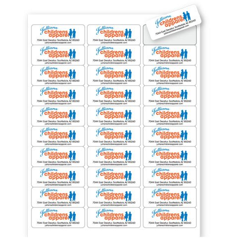 "2.625"" x 1"" Standard Address Laser Label Sheets 30-Up"