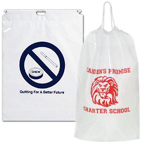 "12"" x 16"" White Cotton Cord Drawstring Bags"