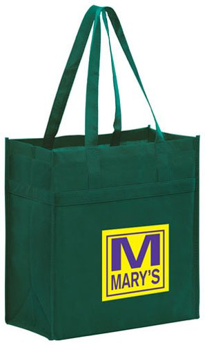 13 x 14 Heavy Duty Non-Woven Reusable Shopping Bags
