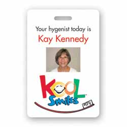 "2"" x 3"" Full Color Photo-ID Name Badges (Personalized)"