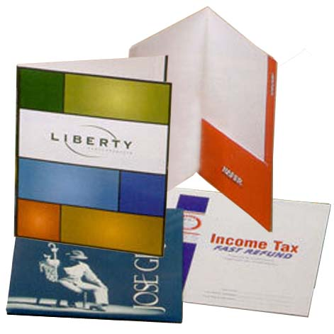 9 x 12 Right Pocket Printed Presentation Folders