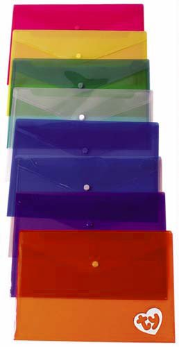 48 Hour Rush Plastic Envelopes with Snap Closure, 13 x 9.25