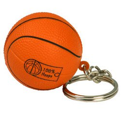 Sports Key Chains, Stress Balls, Basketball Shape