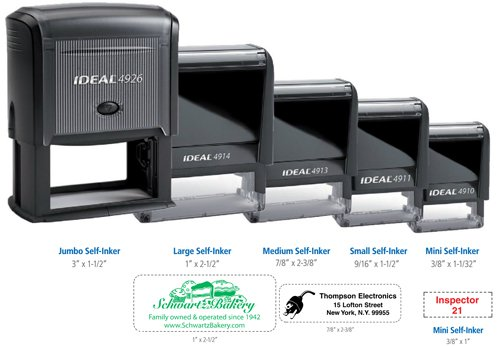 ideal self inking stamps multiple sizes printglobe