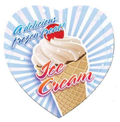 "Medium Heart Bic Magnets, Full Color 3"" x 3"""