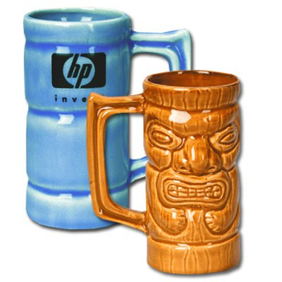 16 oz. Ceramic Tiki Mugs