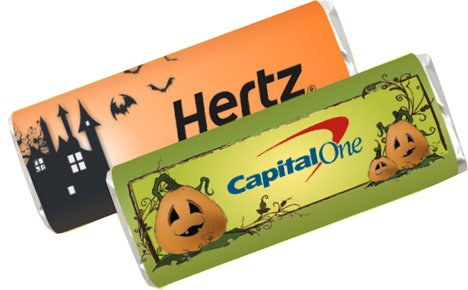 Halloween Chocolate Bars, Halloween Design Label