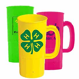 22 oz. BPA Free Plastic Beer Steins (Classic & Neon Colors)