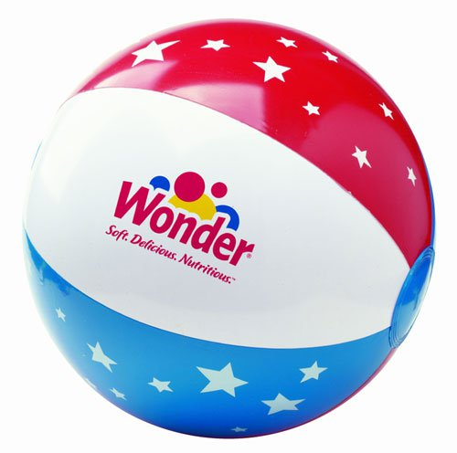 Inflatable Beach Balls, Patriotic 16""