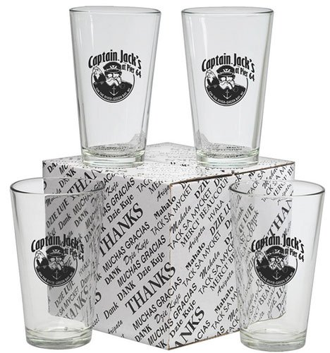 16 oz. Thank You Set of 4 Mixing Glasses