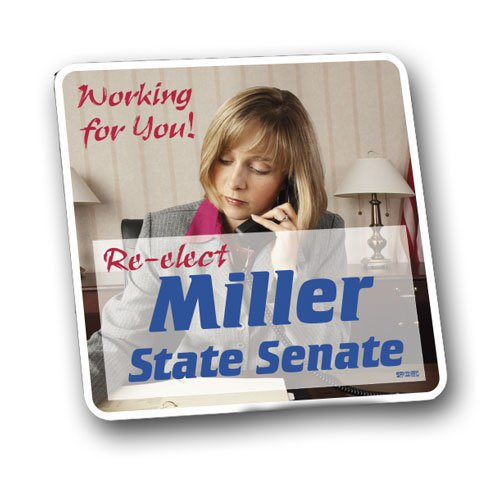 Full Color Political Magnetic Car Signs 12 x 12 Square