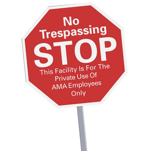 Stop Signs Security Yard Signs with Optional Stakes