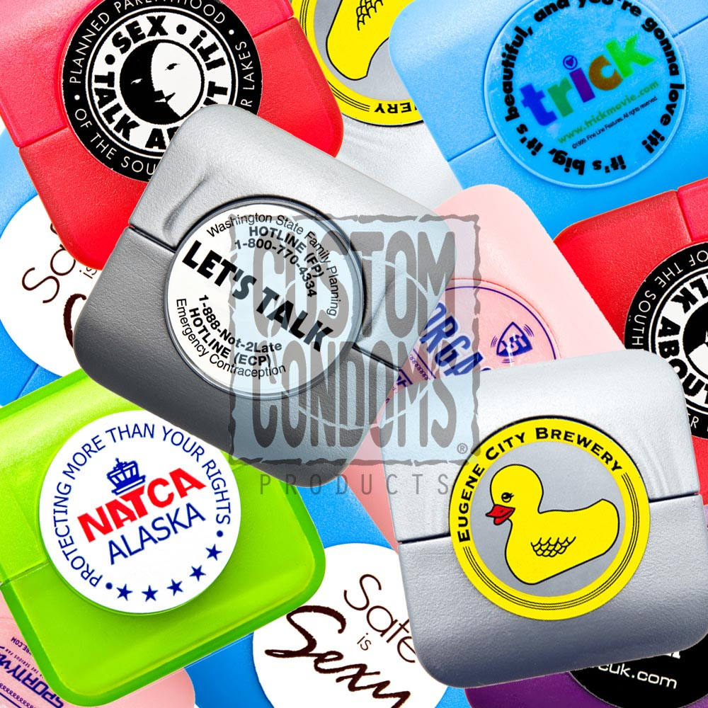 Full Color Condom Compacts - Custom Condoms Brand