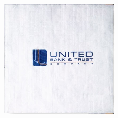 1-Ply Recycled White Semi Crepe Luncheon Napkins, High Quantity