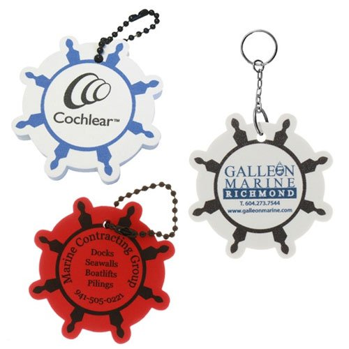 Ships Wheel Floating Keychains