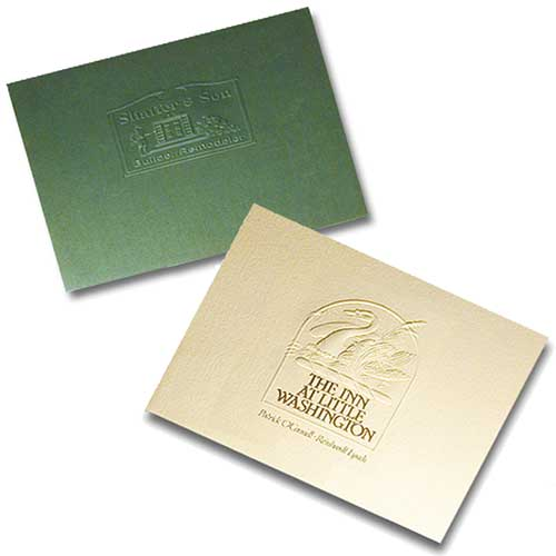 13 x 15 Legal Size Embossed Flat Portfolios - Locking Flap