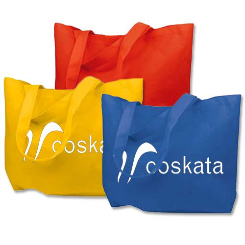 21 x 15 Recycled Non-Woven Poly Reusable Shopping Bags