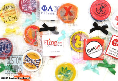 Full Color White Label Condom Pops - Custom Condoms Brand