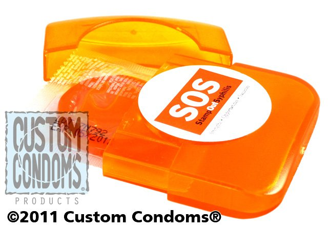 Full Color Label Condom Compacts - Custom Condoms Brand