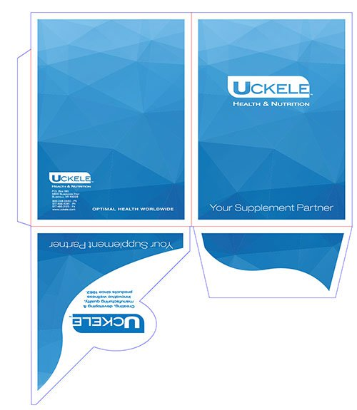 "9"" x 12"" Angled Circle Pocket Printed Presentation Folders"