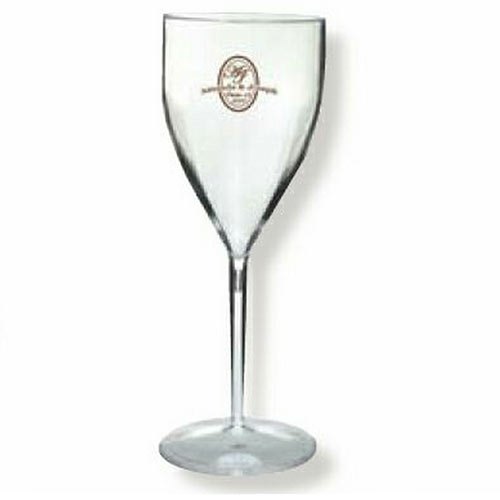 9 oz. Clear Plastic Wine Goblets