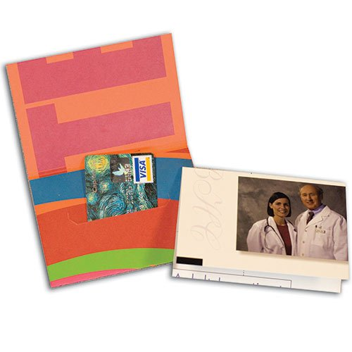 "4 x 3.5"" Gift Card Holders with Slit in Reinforced Panel"