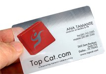 20 mil. Full Color Deluxe Clear Plastic Business Cards