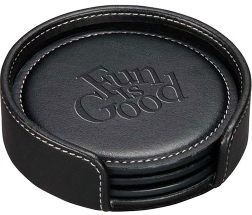 Leather Coaster Sets - Achiever